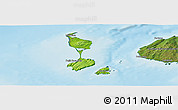 Physical Panoramic Map of Saint Pierre and Miquelon, satellite outside, shaded relief sea