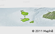 Physical Panoramic Map of Saint Pierre and Miquelon, semi-desaturated
