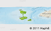 Physical Panoramic Map of Saint Pierre and Miquelon, shaded relief outside