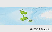 Physical Panoramic Map of Saint Pierre and Miquelon, single color outside