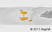 Political Panoramic Map of Saint Pierre and Miquelon, desaturated