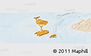 Political Panoramic Map of Saint Pierre and Miquelon, lighten