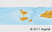Political Panoramic Map of Saint Pierre and Miquelon, political shades outside