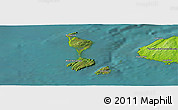 Satellite Panoramic Map of Saint Pierre and Miquelon, physical outside, satellite sea