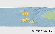 Savanna Style Panoramic Map of Saint Pierre and Miquelon, single color outside