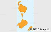 Political Shades Simple Map of Saint Pierre and Miquelon