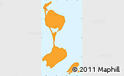 Political Shades Simple Map of Saint Pierre and Miquelon, single color outside