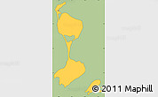 Savanna Style Simple Map of Saint Pierre and Miquelon, cropped outside