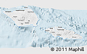 Classic Style 3D Map of Samoa, single color outside