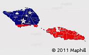 Flag 3D Map of Samoa, flag centered