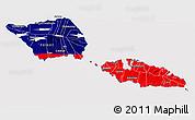 Flag 3D Map of Samoa, flag rotated