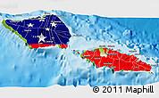 Flag 3D Map of Samoa, physical outside