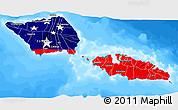 Flag 3D Map of Samoa, single color outside, bathymetry sea