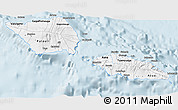 Gray 3D Map of Samoa