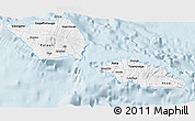 Gray 3D Map of Samoa, single color outside