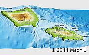 Physical 3D Map of Samoa, darken, land only