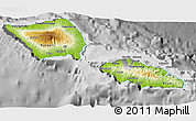 Physical 3D Map of Samoa, desaturated