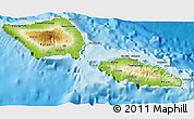 Physical 3D Map of Samoa