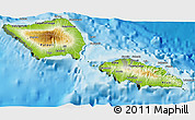 Physical 3D Map of Samoa, semi-desaturated, land only