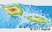 Physical 3D Map of Samoa, single color outside