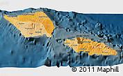 Political Shades 3D Map of Samoa, darken