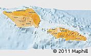 Political Shades 3D Map of Samoa, lighten