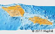 Political Shades 3D Map of Samoa