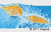 Political Shades 3D Map of Samoa, single color outside