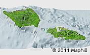 Satellite 3D Map of Samoa, lighten