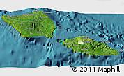 Satellite 3D Map of Samoa, physical outside, satellite sea