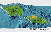 Satellite 3D Map of Samoa, political outside, satellite sea