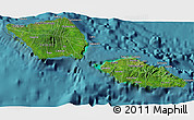 Satellite 3D Map of Samoa