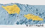 Savanna Style 3D Map of Samoa