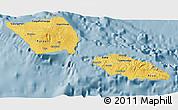 Savanna Style 3D Map of Samoa, single color outside