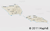 Shaded Relief 3D Map of Samoa, cropped outside