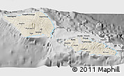 Shaded Relief 3D Map of Samoa, desaturated