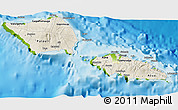 Shaded Relief 3D Map of Samoa, physical outside