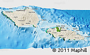 Shaded Relief 3D Map of Samoa, satellite outside, shaded relief sea