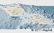 Shaded Relief 3D Map of Samoa, semi-desaturated