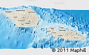 Shaded Relief 3D Map of Samoa, single color outside