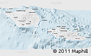 Silver Style 3D Map of Samoa