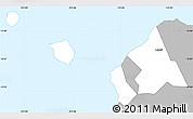 Gray Simple Map of Aiga-i-le-Tai