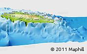 Physical Panoramic Map of Atua
