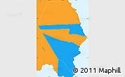 Political Simple Map of Fa'asaleleaga