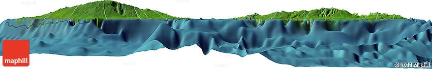 Satellite Horizon Map of Samoa