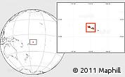 Blank Location Map of Samoa