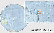 Physical Location Map of Samoa, lighten