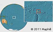 Political Location Map of Samoa, satellite outside