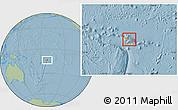Political Location Map of Samoa, savanna style outside, hill shading