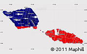 Flag Map of Samoa, flag rotated